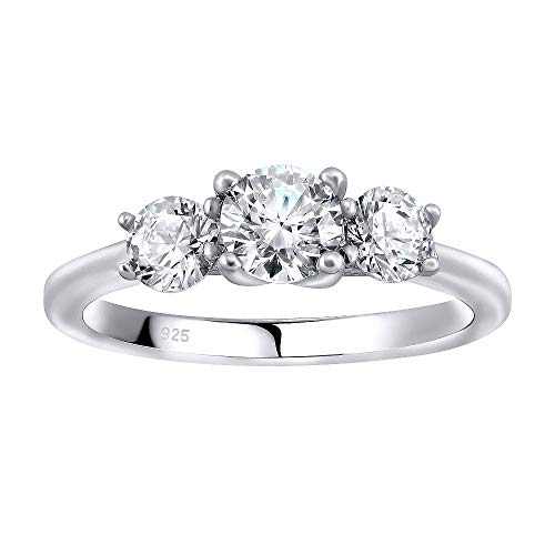SILVEGO Verlobungsring aus 925 Sterling Silber VICTORIA mit Swarovski® Zirconia