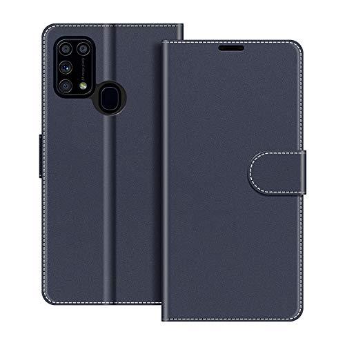 COODIO Handyhülle für Samsung Galaxy M31 Handy Hülle, Samsung Galaxy M31 Hülle Leder Handytasche für Samsung Galaxy M31 Klapphülle Tasche, Dunkel Blau