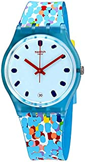 Swatch Prikket Dial Silicone Strap Ladies Watch GS401