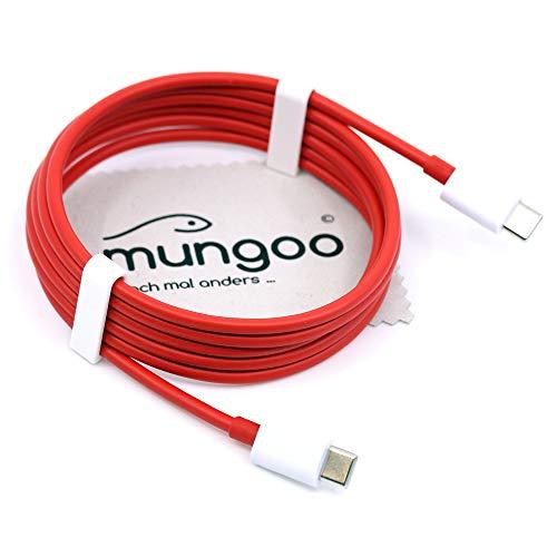 Ladekabel für Original Oneplus C204A für Oneplus 8 Pro 8 Nord 7T Pro 7T 7 Pro Warp Charge 30 Kabel 150cm Datenkabel Typ-C mit mungoo Bildschirmputztuch
