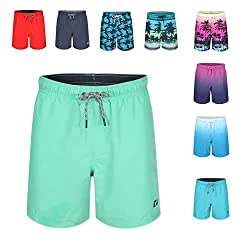 LIGHTWEIGHT COMFORT SWIMMING SHORTS: These Ript Essentials Swimming Shorts Are Manufactured Using Ript's In House Aqua-Lite Fabric Which Creates A Lightweight Yet Hardwearing Short Which Is Super Comfortable For Extended Wear QUICK DRY FABRIC: The Sh...