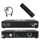 Maxytec Multibox 4K UHD 2160p H.265 HEVC Android & E2 Linux, 8 Go Flash, USB3.0, DVB-S2 Sat & DVB-T2/C Récepteur Combo Noir