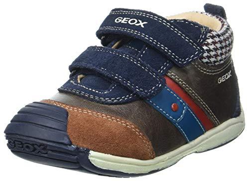 Geox B Toledo Boy A, First Walker Shoe Bimbo 0-24, (Coffee/Navy), 18 EU