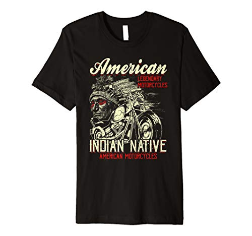 Retro Vintage American Motorcycle Indian for Old Biker Gifts Premium T-Shirt