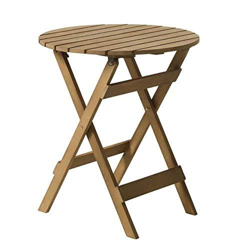LWW Mesas, Sillas Taburetes Patio de mesa del lado exterior Pequeña mesa auxiliar portátil Porche Patio Jardín,1 Tabla