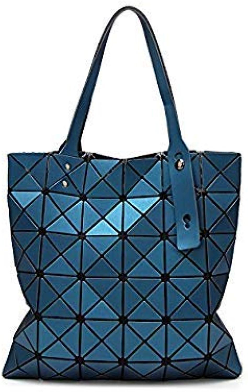 Bloomerang Fashion Diamond Women Bao Bags Geometry Matte Handbag Female Geometric Casual Tote Lady Shoulder Bag Top-Handle Bag with Logo color Lake blueee