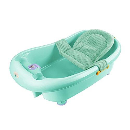 Bébé peut s'asseoir dans la baignoire en plastique pliant anti-dérapant multifonctionnel bébé baignoire confortable usure/stabilité Portable/matériel sécurité bleu, vert, rose, violet (85 * 25cm)