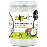 pipkin Aceite de Coco 100% Orgánico, Natural, Virgen Extra Puro. Aceite de coco Multiusos, Prensado...