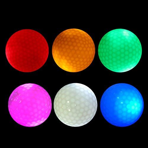 T TOOYFUL 6pcs LED Golfbälle Leuchtende Trainingsbälle Offizielle Größe 42,6mm