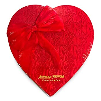Anthony Thomas Heart Shaped Box Mother s Day Chocolates Milk and Dark Chocolate Soft Centers Nuts Toffee and Caramels Gift Box 32 Pieces  14 oz Milk and Dark
