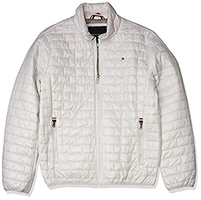 Tommy Hilfiger Men's Ultra Loft Sweaterweight Quilted Packable Jacket, ice, Small