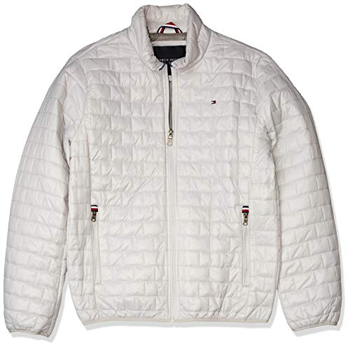 Tommy Hilfiger Men's Ultra Loft Sweaterweight Quilted Packable Jacket, ice, Medium