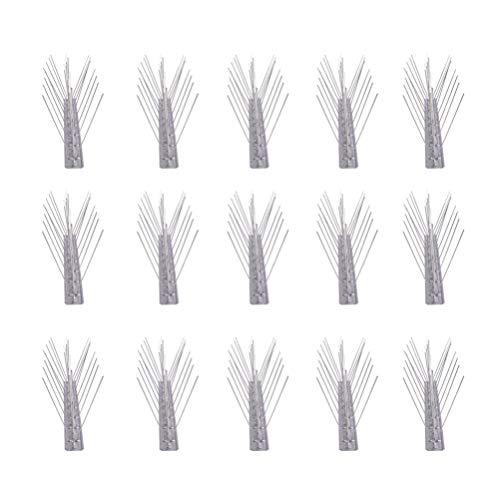Hemoton 16 Piezas de Pico de Disuasión de Aves de Acero Inoxidable para Anteojeras Repelente de Aves Puntas de Disuasión para Ventana de Valla