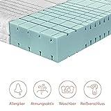 RAVENSBERGER STRUKTURA-MED® 60 | 7-Zonen-HR-Premium-Kaltschaummatratze | H3 RG 60 (80-120 kg) | Made IN Germany – 10 Jahre Garantie | Baumwoll-Doppeltuch-Bezug | 90 x 200 cm - 5