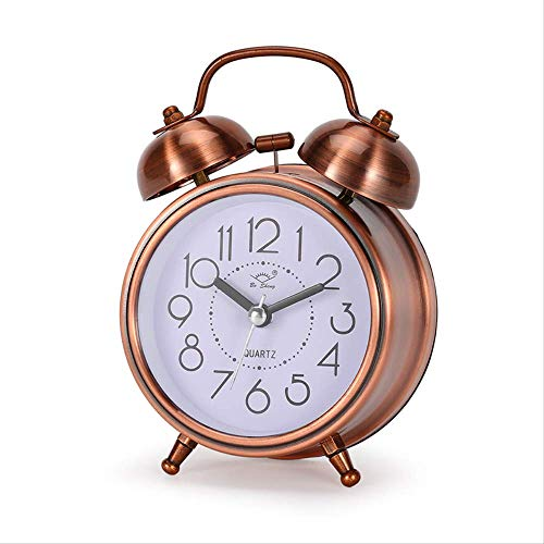 yywl wekker creatieve wekker vintage retro stille wijzer klokken spelen bel luid wekker met licht nachtkastje huisdecoratie