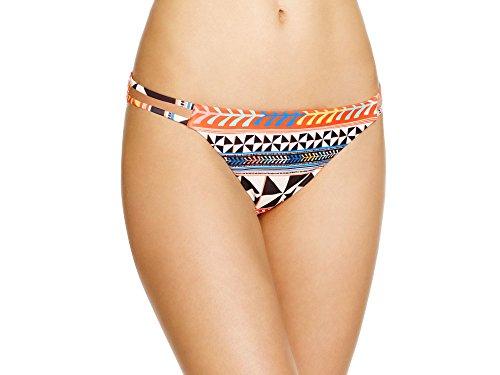 Mara Hoffman Women's Double Strap Bikini Bottom Swimsuit, Pinwheel Poppy, Small