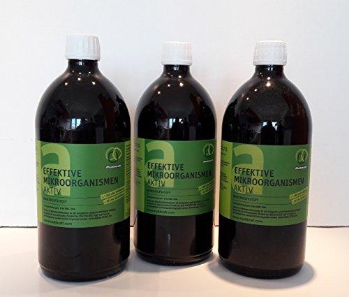 Efectiva microorganismos activo (EM de suelo activo), plástico–Abono 3x 1l FL.