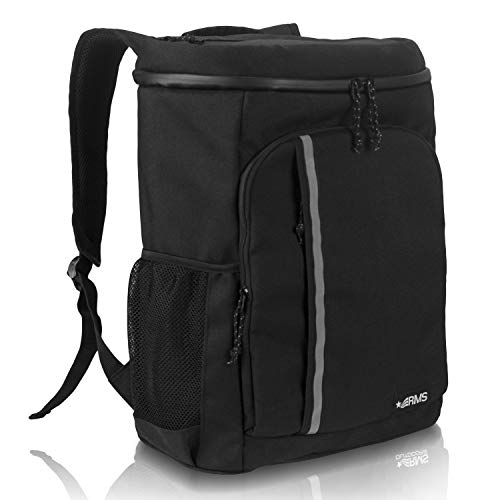 RMS Cooler Backpack  Insulated Soft Sided Cooler Bag for Men or Women  Fits Up to 28 Cans  Leak Proof amp Water Resistant Picnic Backpacks for Camping Hiking Picnics amp Everyday Activities Black