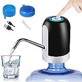 Bomba de agua para botella de agua de 5 galones – Bomba de agua potable para botella de 5 galones con tapas de botella de agua de 3 a 5 galones reutilizables con tapa de rosca o tapa de corona con...