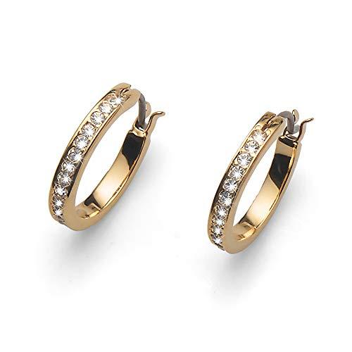 OLIVER WEBER | Creole klein vergoldet crystal | DAMEN | veredelt mit Kristallen von Swarovski® | Designed in AUSTRIA | 22082G