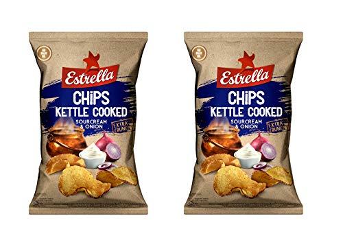 Estrella Patatas fritas (Crema agria y sabor a cebolla) 120 g - Pack de 2