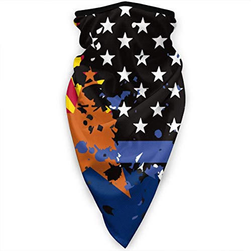 Mathillda Arizona sjaal, dunne, blauwe vlag, USA, gezichtsmasker, gamas, halsdoek, bivakmuts, multifunctioneel
