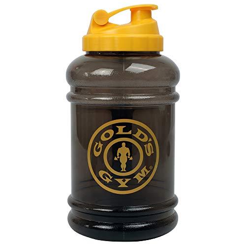 Gym GGJUG070 sport en plastique Bouteille Cruche d'or Sport Cap, Noir / Jaune, Taille