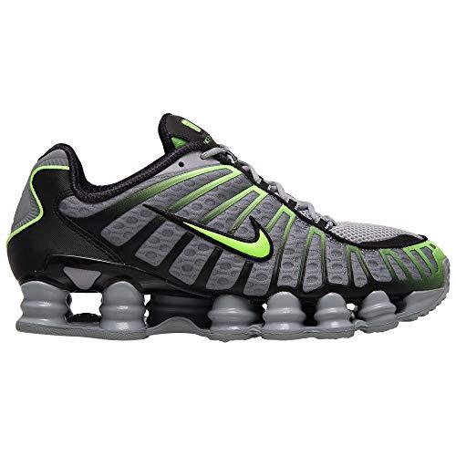 Nike Shox Tl AV3595-005 - Zapatillas para hombre, color gris y verde, (Wolf Grey/Lime Blast-black), 42 EU