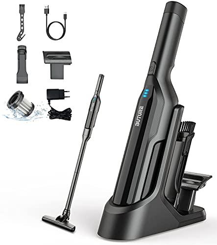 Aspirador de Mano Sin Cable, 17KPA/170W Aspirador Coche Potente 5 en 1,Batería de 3000mAh & Luces LED,con Carga por USB,Aspiradora de Mano para el Hogar y el Coche (Negro)