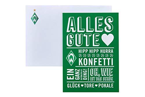 SV Werder Bremen Glückwunschkarte Konfetti