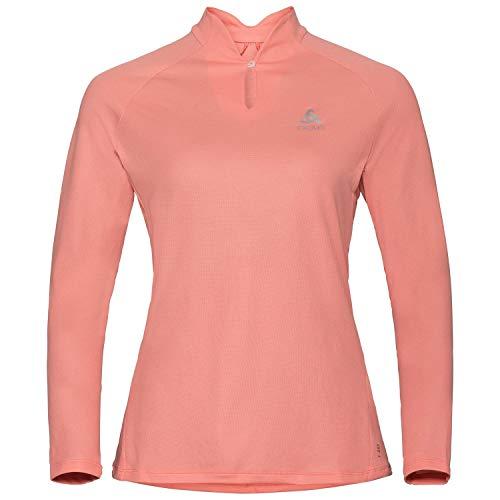 Odlo Damen Crew Neck F-Dry Sweatshirt, Coral Haze, XS