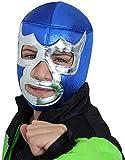 BLUE DEMON Youth Lucha Libre Wrestling Mask ( Kids - Fit ) Luchador Wrestler Mask for Children by Make It Count