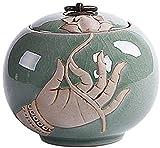 TREEECFCST Urnas para Cenizas humanas Tamaño de tamaño pequeño urna Decorativa