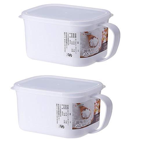 2 piezas de caja de almacenamiento engrosada para el hogar, con tapa, mango sellado, caja de almacenamiento, adecuado para frutas y verduras, etc
