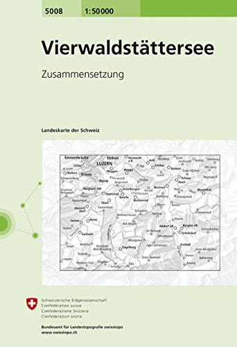 5008 Vierwaldstättersee: Zusammensetzung (Landeskarte 1:50 000 Zusammensetzungen)