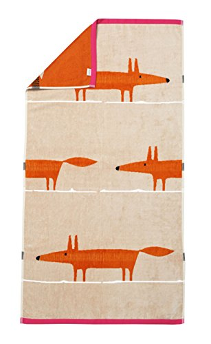 Scion living Mr Fox Drap de douche Coton Sable 130 x 70 cm