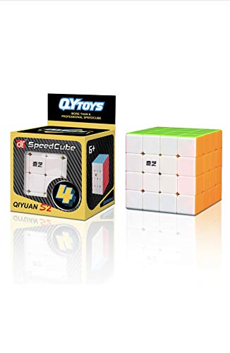 WNIM Speed Cube 4x4x4 More Than Professional Cube Durable Easy Move Brain Teaser Stress Reliever for Kids and Adults.