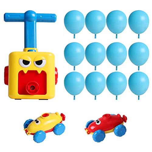 Dowoa Coche de Globo para niños, Coche de Globo de energía de inercia de Bricolaje Coche de Ciencia Coche de bebé Regalo para niños con Juguete Educativo de Globo para niños de 1-3 años