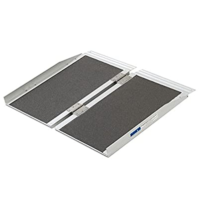 "Silver Spring Aluminum Folding Wheelchair Ramp Plus 2' x 29"""