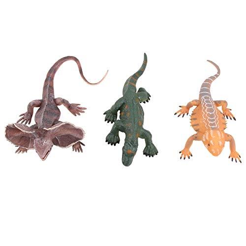 Tomaibaby 3 Stück Silikon Alligator Spielzeug Beängstigend Realistische Eidechsen Figur Witz Spielzeug für Neuheit Geburtstagsfeier Lieferungen (Zufällige Farbe)