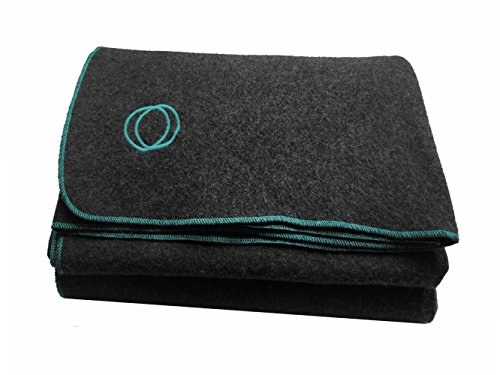 Orion Outpost Trading Co. Vestige Military Wool Blanket, 4.5 lbs, 66' x 84' (Gray/Lt. Blue)