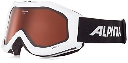 Alpina Skibrille Grap Doubleflex White-Shiny