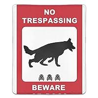 マウスパッド 滑り止め 天然ゴム 長方形 犬注意