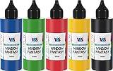 Window Fantasy 5er-Set je 85ml Glasfarbe, Fenstermalfarbe, Window Color, von VBS -