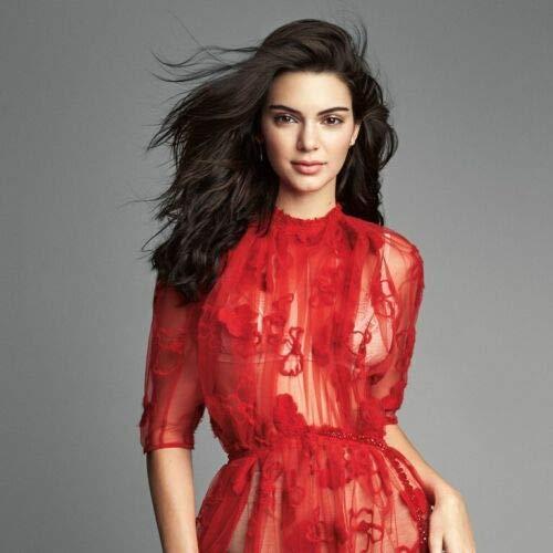 Bucraft Kendall Jenner con su vestido rojo transparente 8x10 Picture Celebrity Print