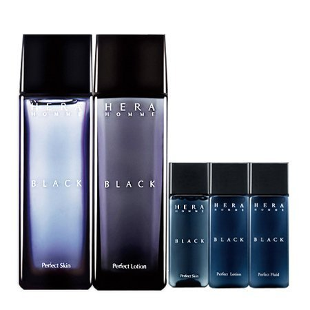 Hera Homme Black Perfect Gift Set(skin 140ml, Lotion 140ml, Fluid 20ml) 2015 Limited by HERA