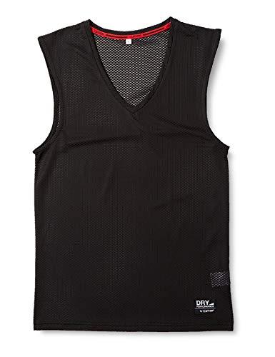 [エーショ-ン] インナーシャツ クレーターメッシュ Vネック ノースリーブ メンズ ブラック L