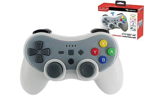 Subsonic - Kabelloser Bluetooth PRO-S Controller mit Vibration und Gyroskop - Zubehör für Nintendo Switch System - Retro 90er Jahre grau