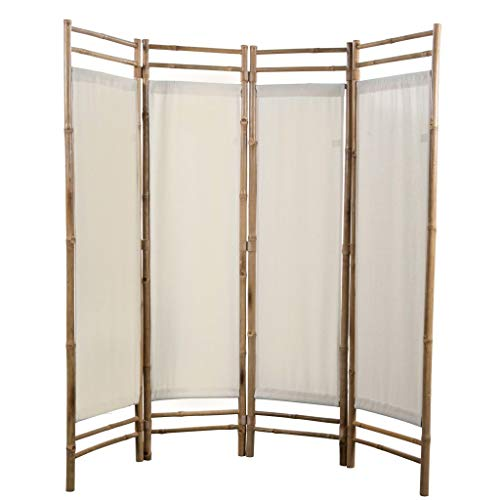 Why Choose Festnight 4 Panel Folding Room Divider Bamboo and Canvas 63