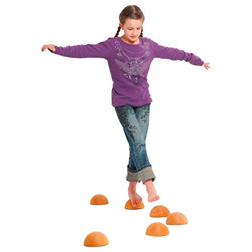 pedalo Balancier-Halbkugel aus Massivholz Balancierspiel, Balance Spiel, Kinder